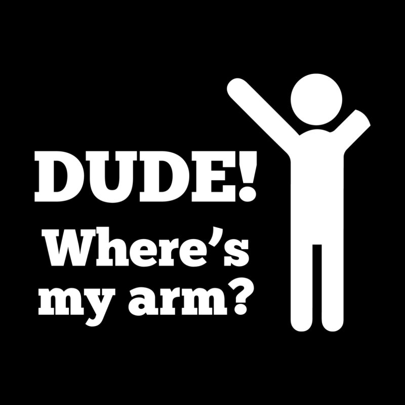 DUDE, WHERE'S MY ARM? White Figure Accessories Notebook by bornjustright's Artist Shop