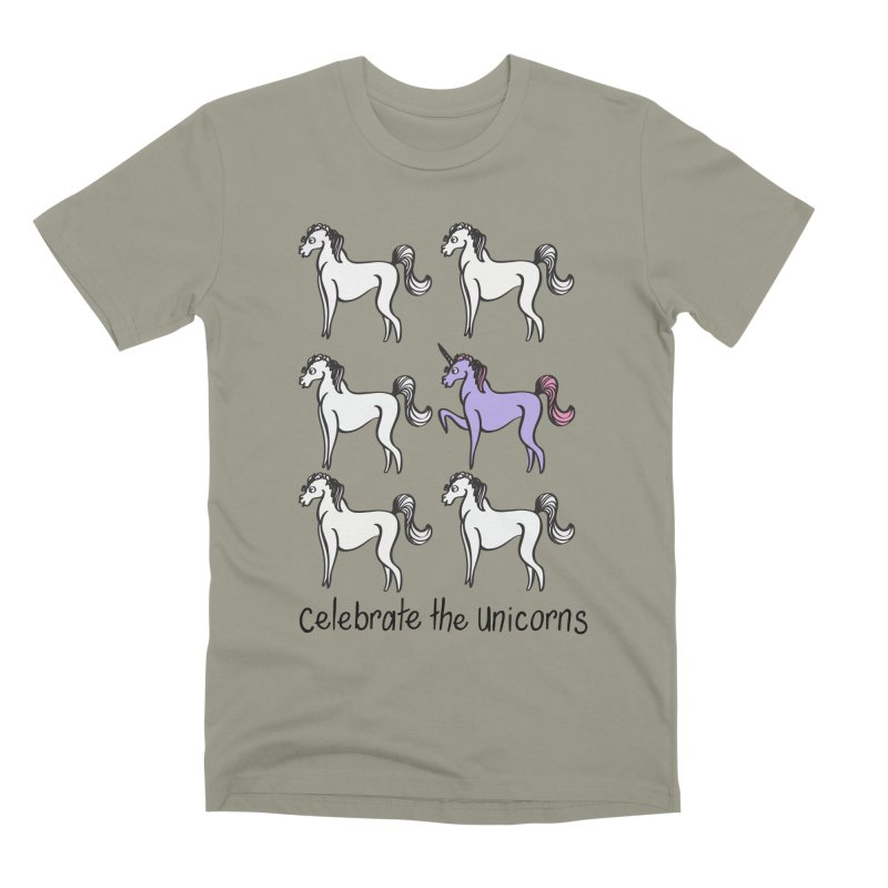 Celebrate the Unicorns Men's T-Shirt by bornjustright's Artist Shop
