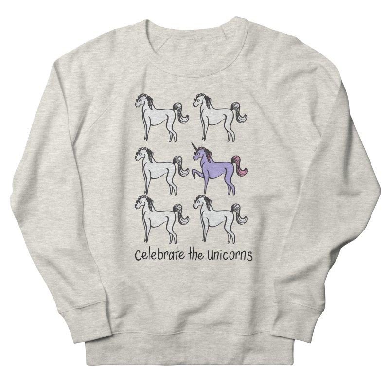 Celebrate the Unicorns Men's Sweatshirt by bornjustright's Artist Shop