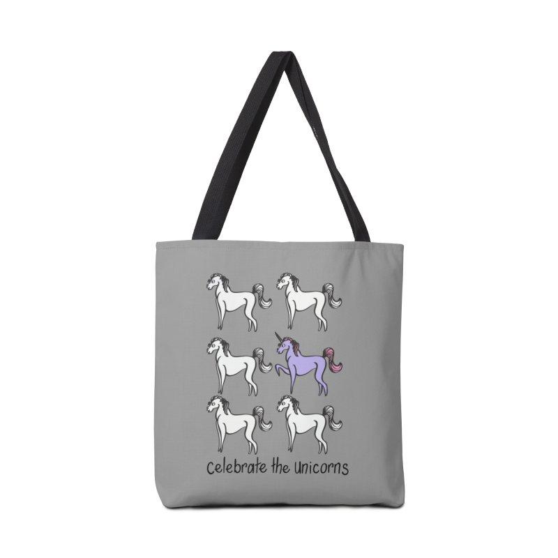 Celebrate the Unicorns Accessories Tote Bag Bag by bornjustright's Artist Shop