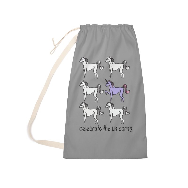 Celebrate the Unicorns Accessories Bag by bornjustright's Artist Shop