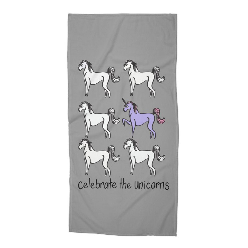 Celebrate the Unicorns Accessories Beach Towel by bornjustright's Artist Shop