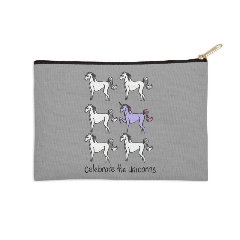 Celebrate the Unicorns Accessories Zip Pouch by bornjustright's Artist Shop