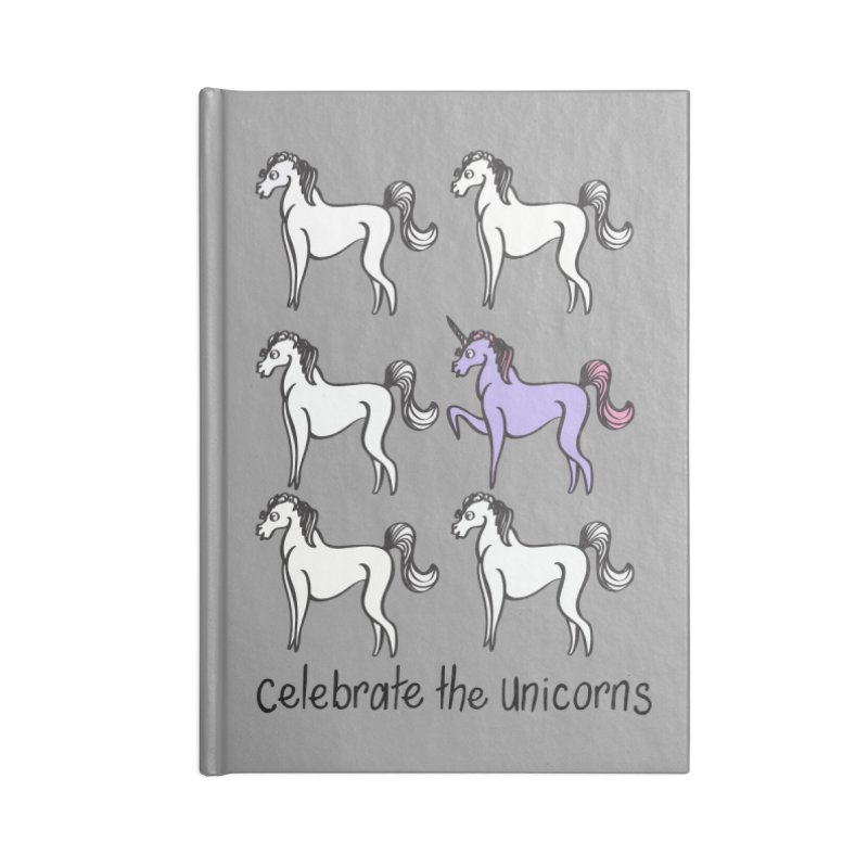 Celebrate the Unicorns Accessories Lined Journal Notebook by bornjustright's Artist Shop