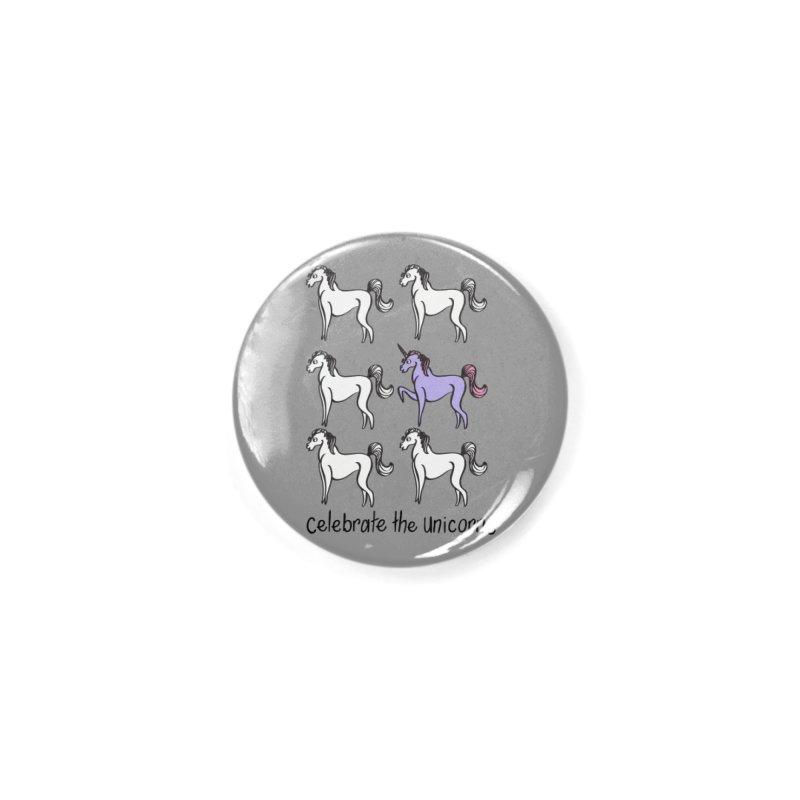 Celebrate the Unicorns Accessories Button by bornjustright's Artist Shop