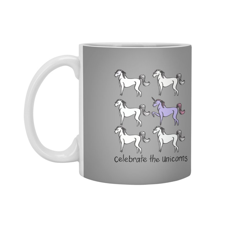 Celebrate the Unicorns Accessories Mug by bornjustright's Artist Shop