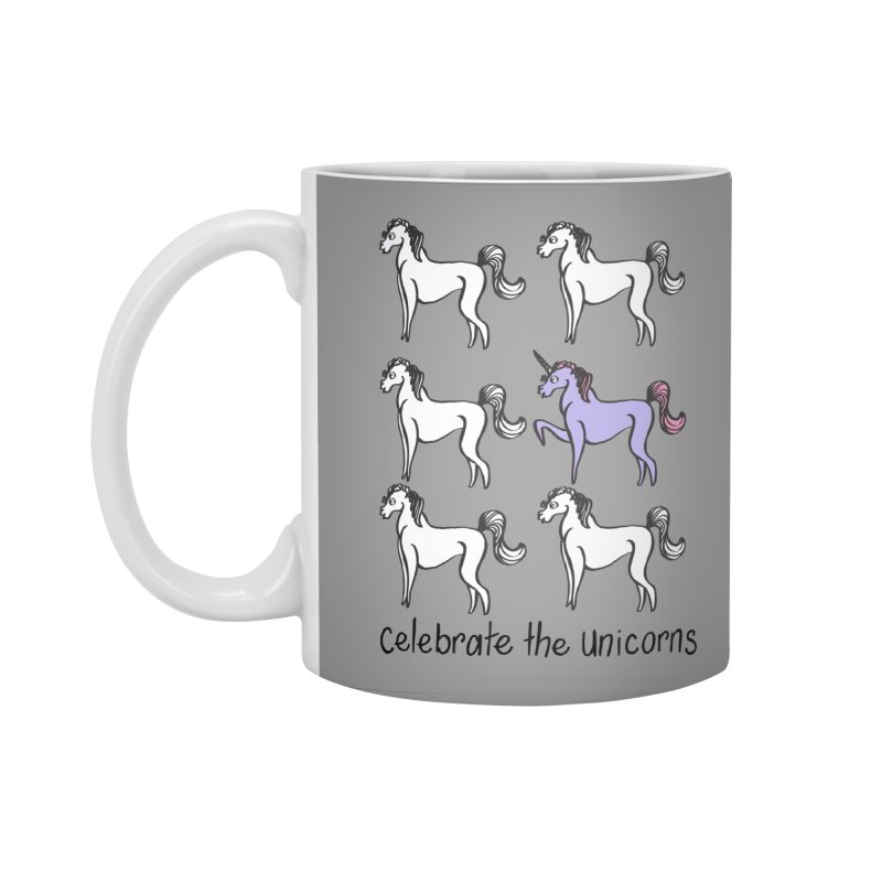 Celebrate the Unicorns Accessories Standard Mug by bornjustright's Artist Shop