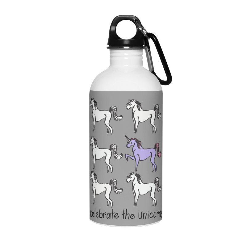 Celebrate the Unicorns Accessories Water Bottle by bornjustright's Artist Shop