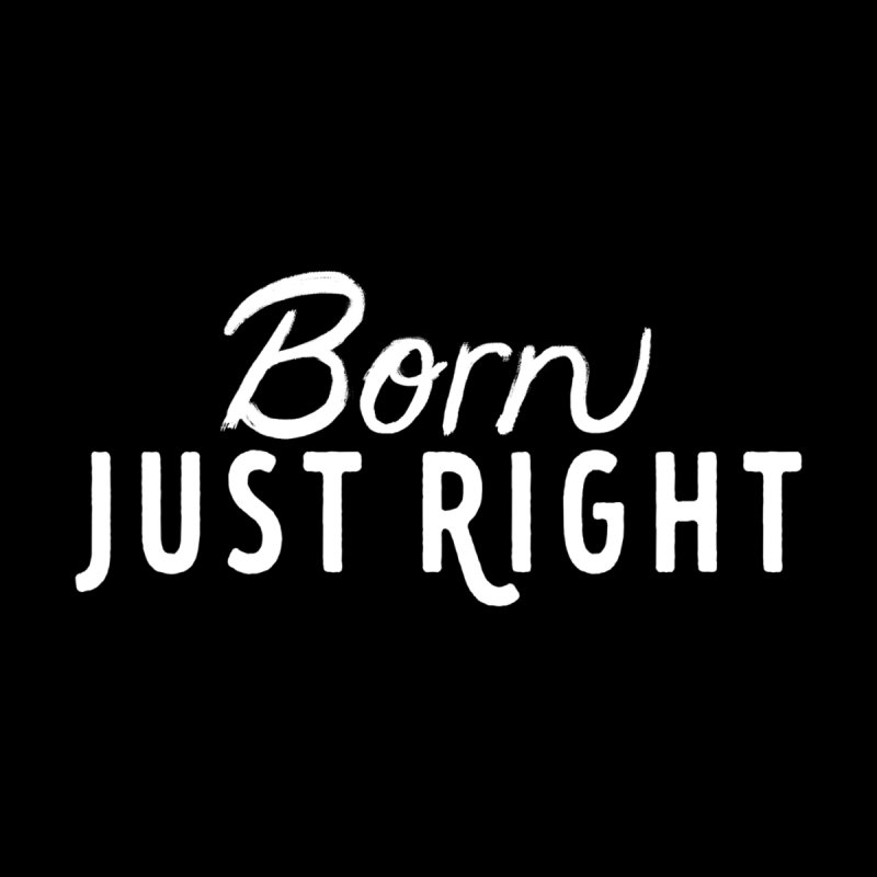 Born Just Right white lettering Accessories Notebook by bornjustright's Artist Shop