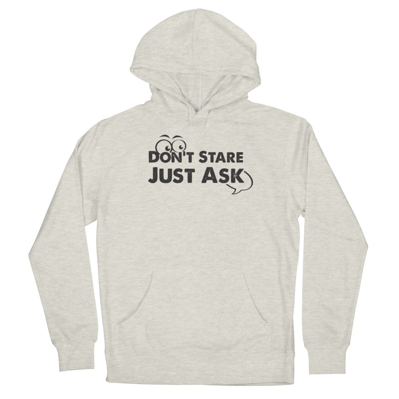 DON'T STARE Women's French Terry Pullover Hoody by bornjustright's Artist Shop