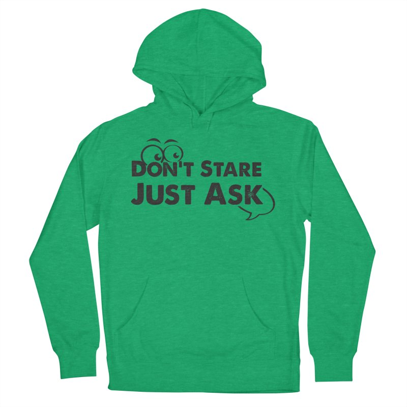DON'T STARE Men's French Terry Pullover Hoody by bornjustright's Artist Shop