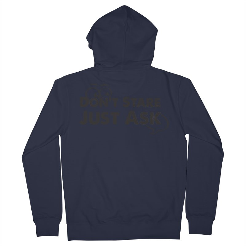 DON'T STARE Women's French Terry Zip-Up Hoody by bornjustright's Artist Shop
