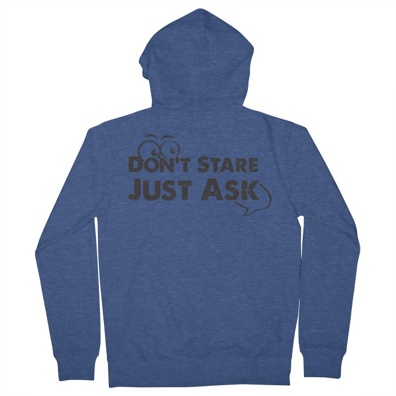 DON'T STARE Men's French Terry Zip-Up Hoody by bornjustright's Artist Shop