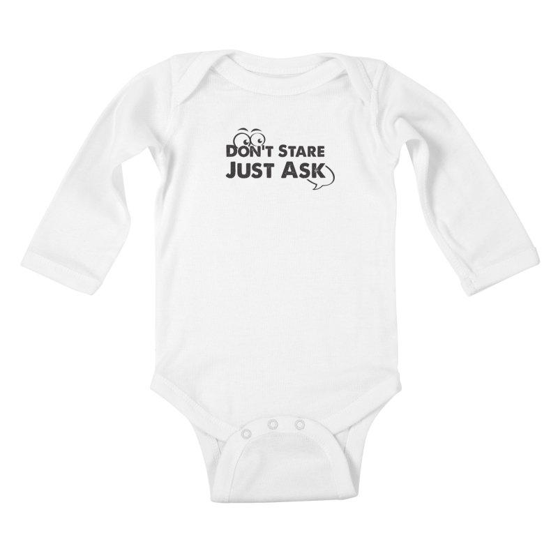 DON'T STARE Kids Baby Longsleeve Bodysuit by bornjustright's Artist Shop