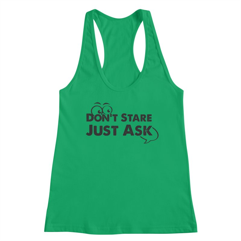 DON'T STARE Women's Tank by bornjustright's Artist Shop