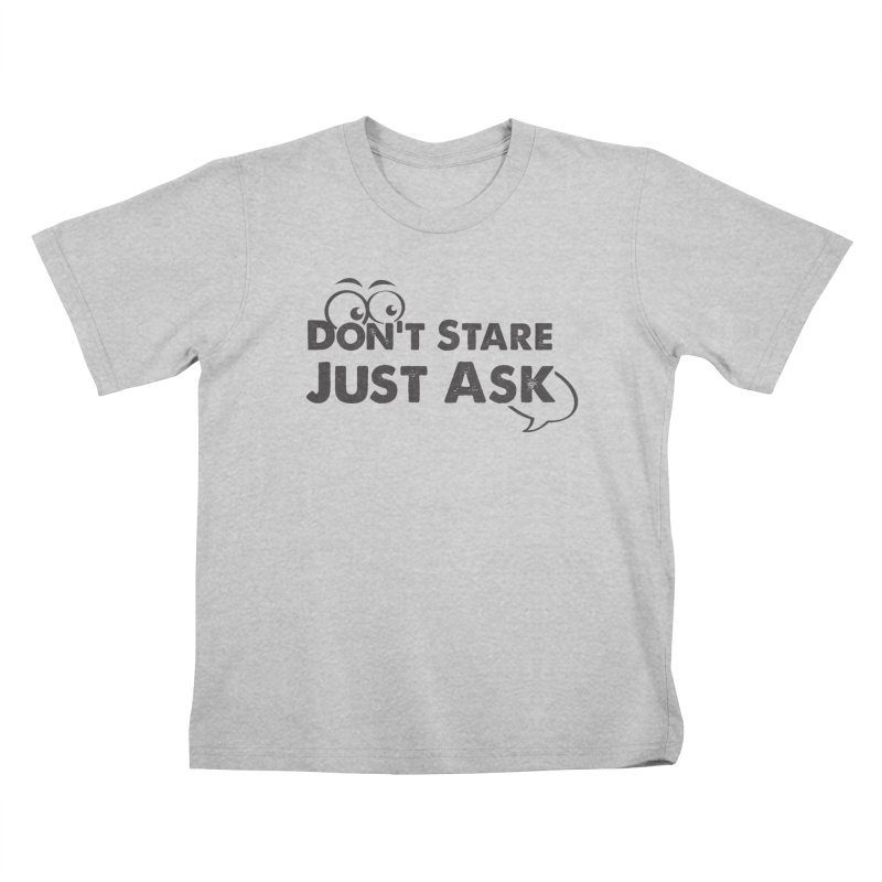 DON'T STARE Kids T-Shirt by bornjustright's Artist Shop