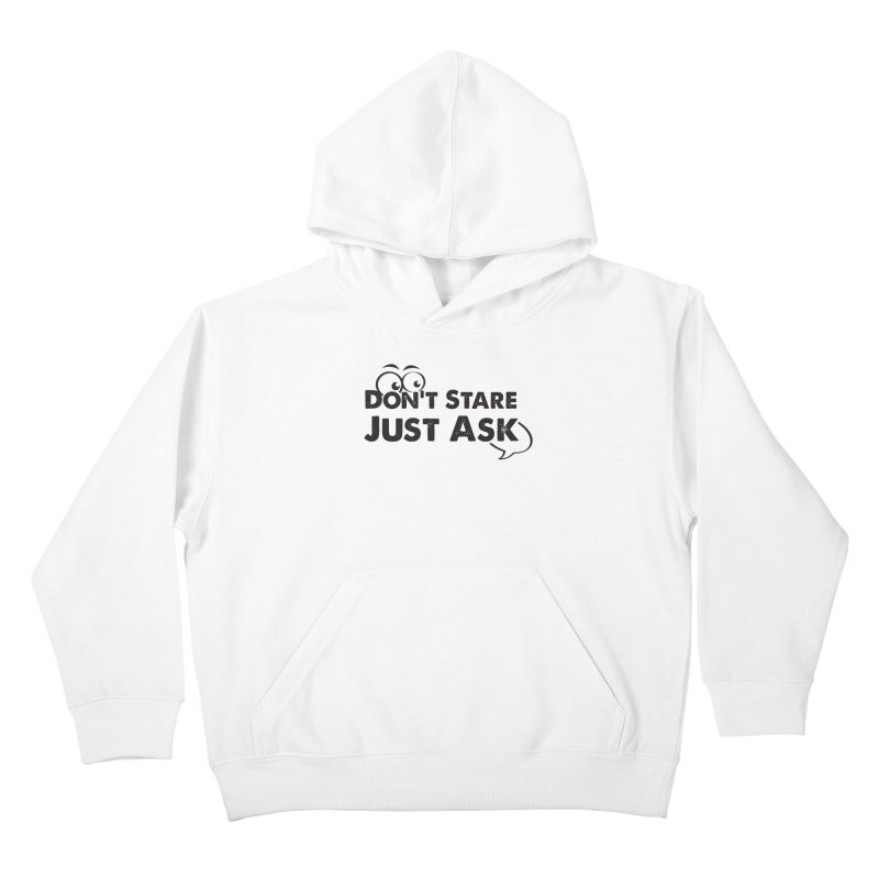 DON'T STARE Kids Pullover Hoody by bornjustright's Artist Shop