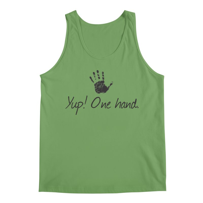 Yup! One Hand. Men's Tank by bornjustright's Artist Shop