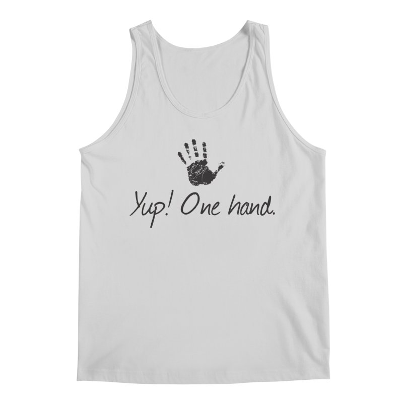 Yup! One Hand. Men's Regular Tank by bornjustright's Artist Shop