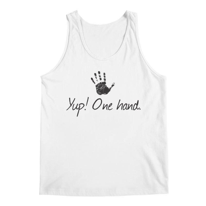 Yup! One Hand. Men's Regular Tank by bornjustright's Artist Shop