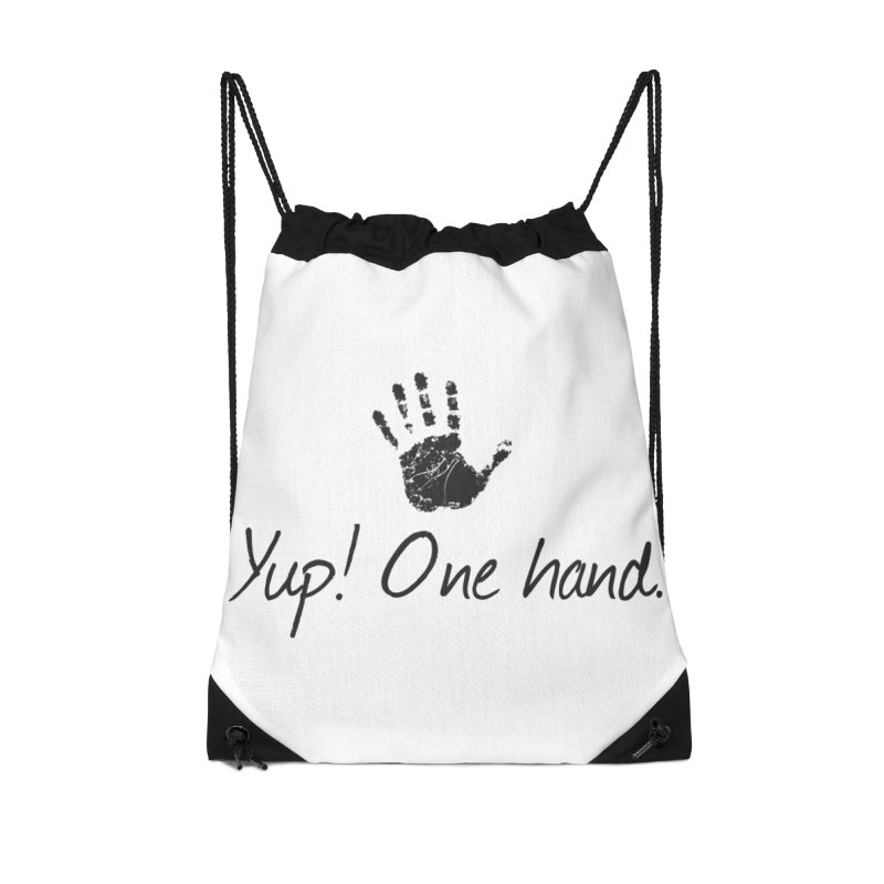Yup! One Hand. Accessories Drawstring Bag Bag by bornjustright's Artist Shop