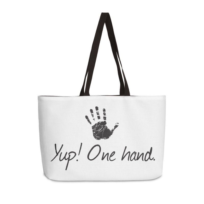 Yup! One Hand. Accessories Bag by bornjustright's Artist Shop