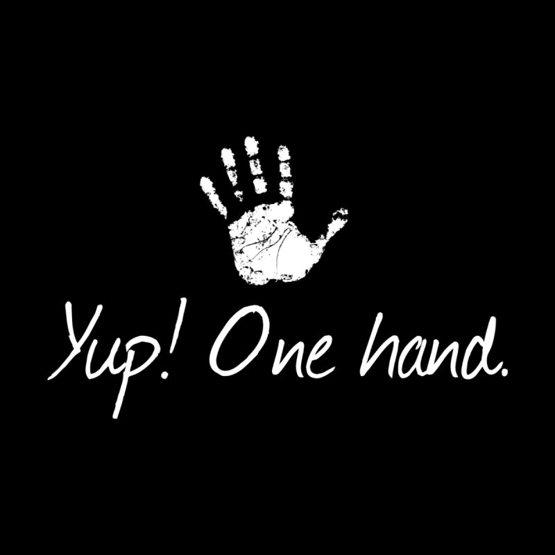 Yup! One hand. White lettering Accessories Notebook by bornjustright's Artist Shop