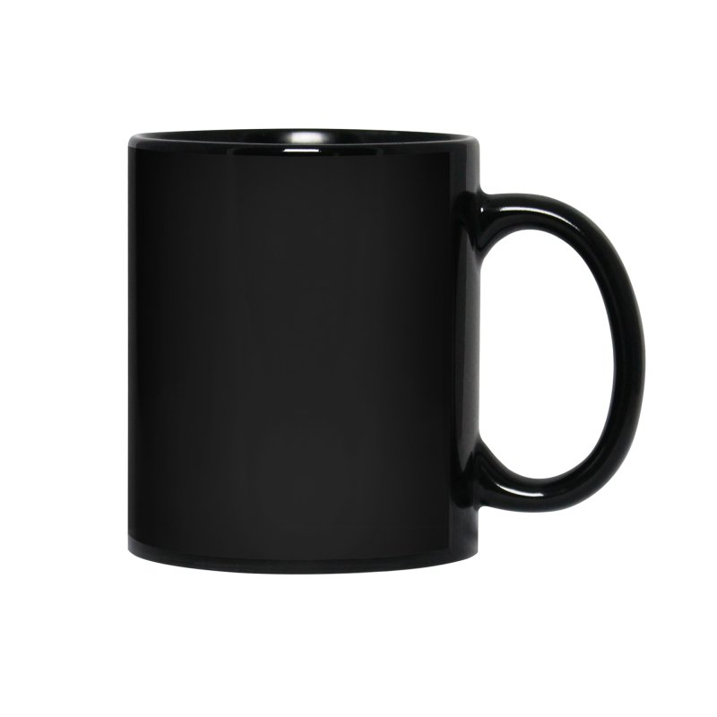 Yup! One hand. White lettering Accessories Mug by bornjustright's Artist Shop