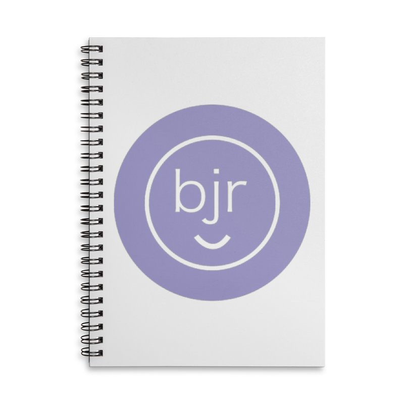 BJR logo Accessories Lined Spiral Notebook by bornjustright's Artist Shop