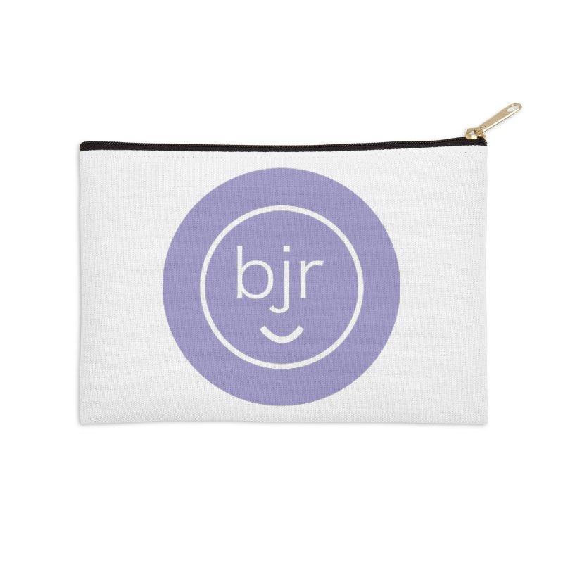 BJR logo Accessories Zip Pouch by bornjustright's Artist Shop