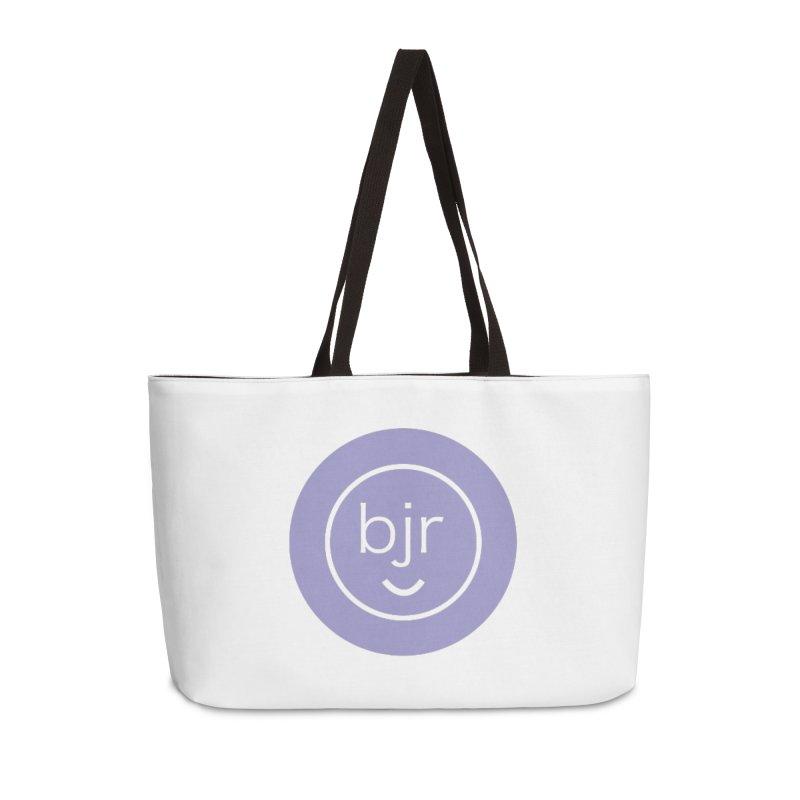 BJR logo Accessories Weekender Bag Bag by bornjustright's Artist Shop