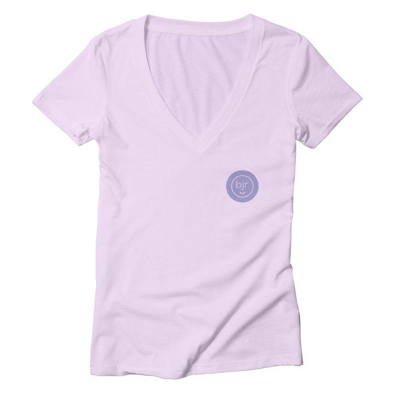 BJR logo Women's Deep V-Neck V-Neck by bornjustright's Artist Shop