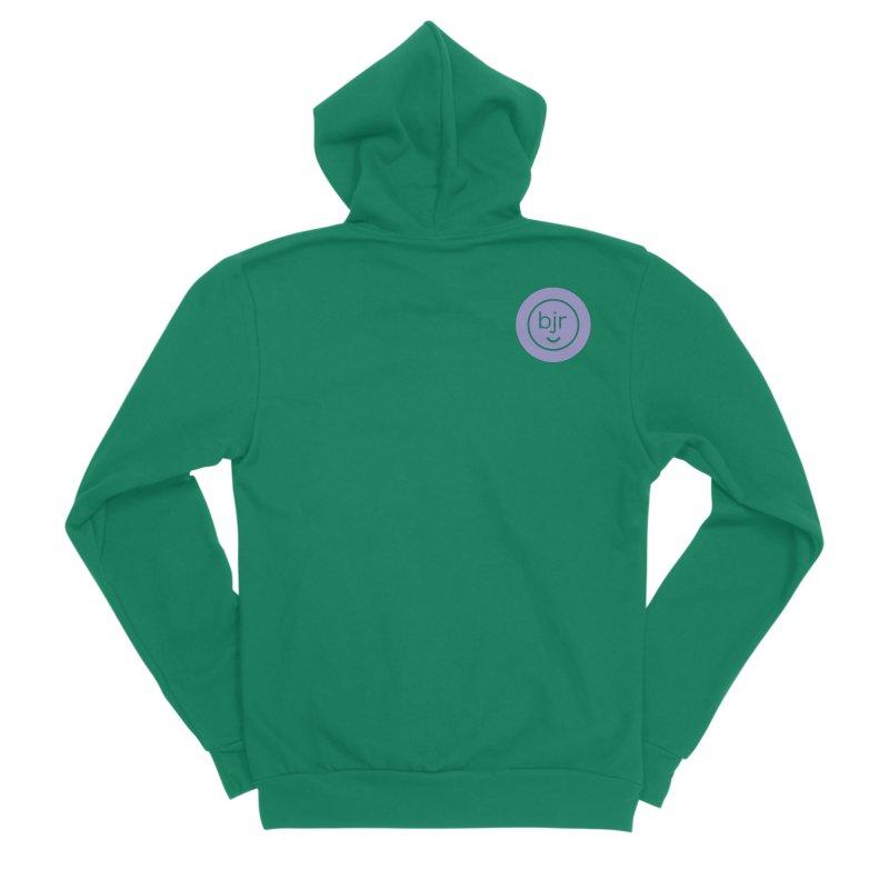 BJR logo Men's Sponge Fleece Zip-Up Hoody by bornjustright's Artist Shop