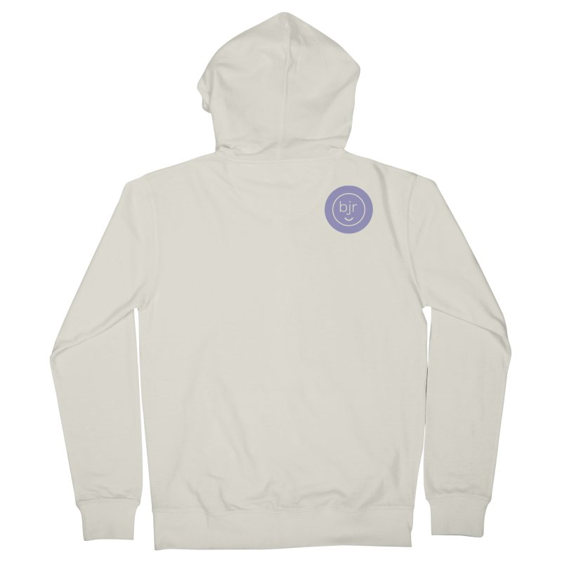 BJR logo Men's French Terry Zip-Up Hoody by bornjustright's Artist Shop