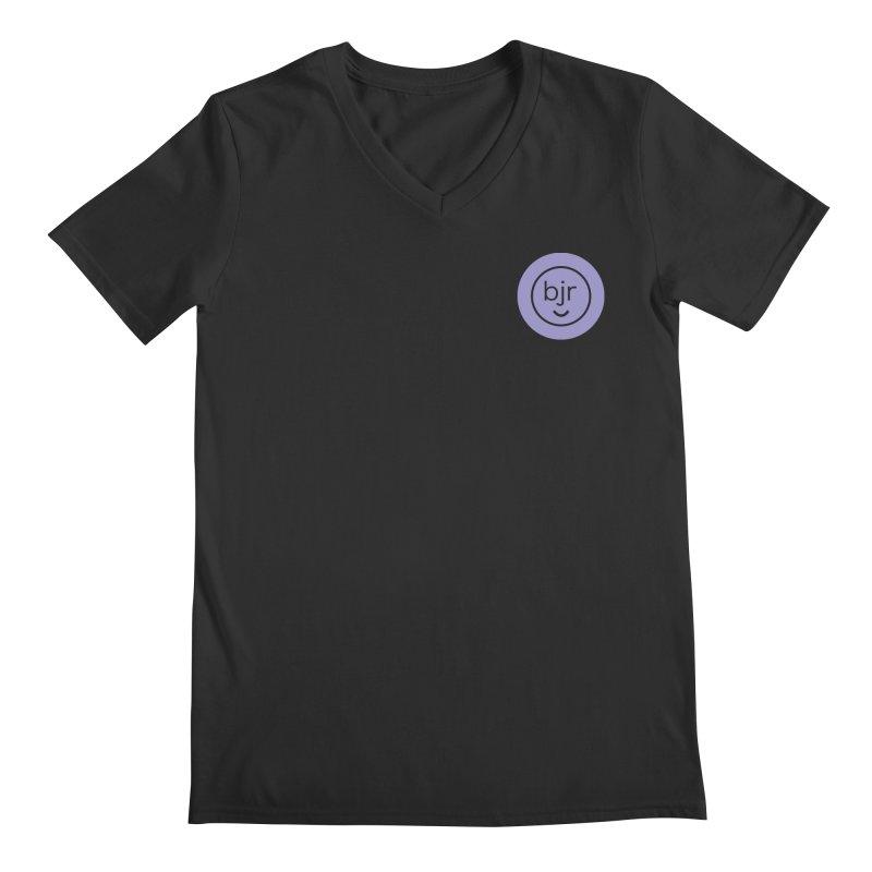 BJR logo Men's Regular V-Neck by bornjustright's Artist Shop