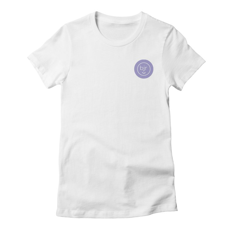 BJR logo Women's Fitted T-Shirt by bornjustright's Artist Shop