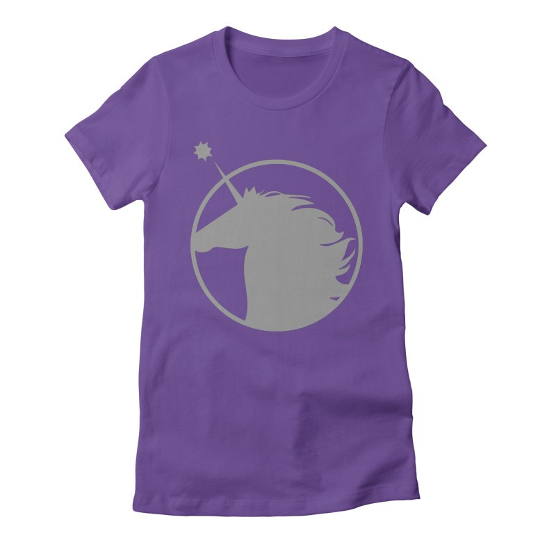 PROJECT UNICORN in Women's Fitted T-Shirt Purple by bornjustright's Artist Shop
