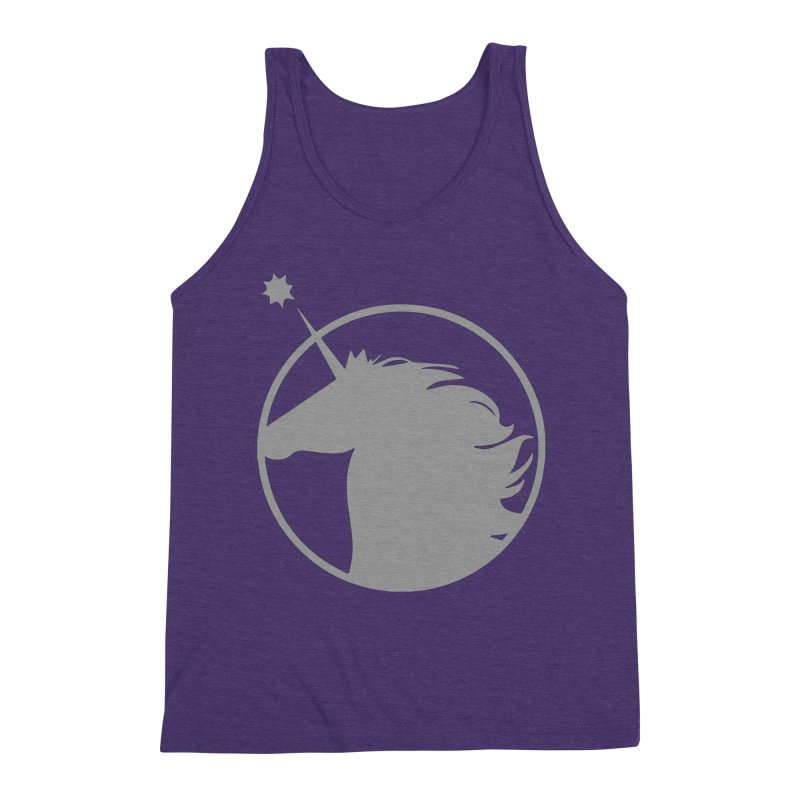 PROJECT UNICORN Men's Triblend Tank by bornjustright's Artist Shop