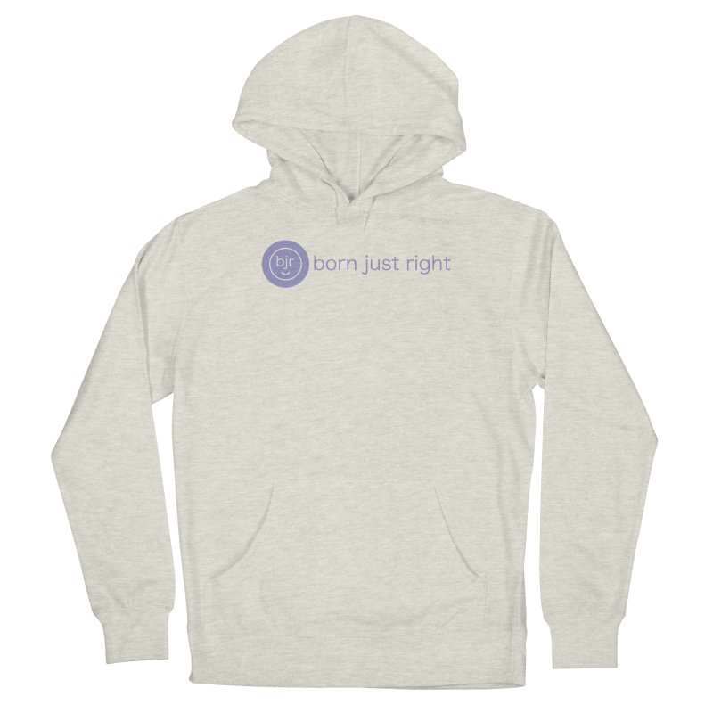 BJR Logo with text Women's French Terry Pullover Hoody by bornjustright's Artist Shop