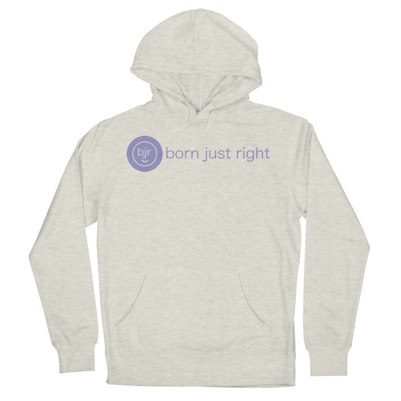 BJR Logo with text Men's French Terry Pullover Hoody by bornjustright's Artist Shop