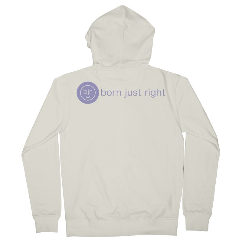 BJR Logo with text Men's French Terry Zip-Up Hoody by bornjustright's Artist Shop