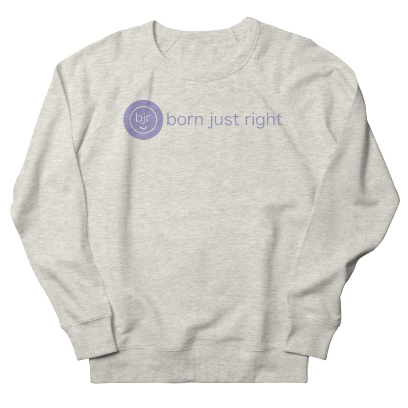 BJR Logo with text Men's French Terry Sweatshirt by bornjustright's Artist Shop