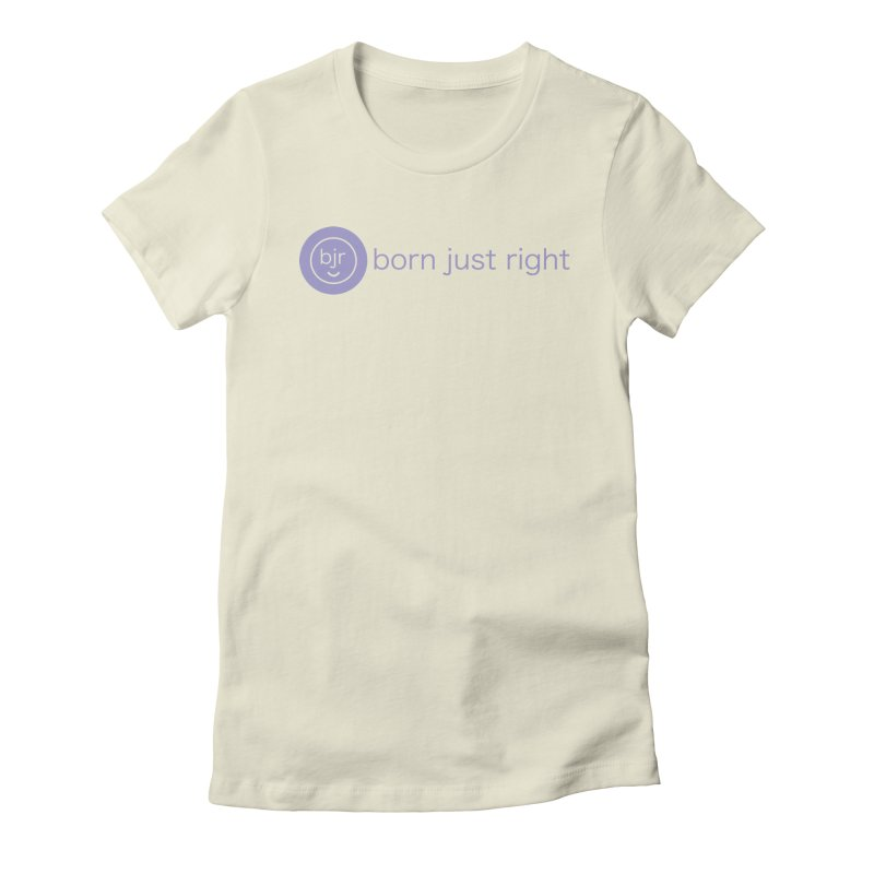 BJR Logo with text Women's T-Shirt by bornjustright's Artist Shop
