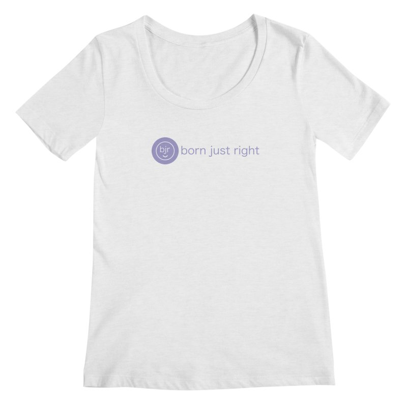 BJR Logo with text Women's Regular Scoop Neck by bornjustright's Artist Shop
