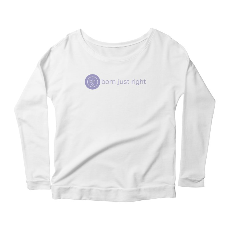 BJR Logo with text Women's Scoop Neck Longsleeve T-Shirt by bornjustright's Artist Shop
