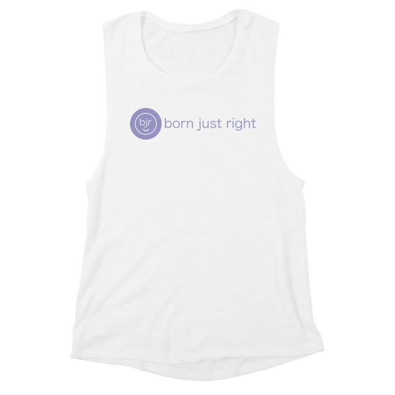 BJR Logo with text Women's Muscle Tank by bornjustright's Artist Shop
