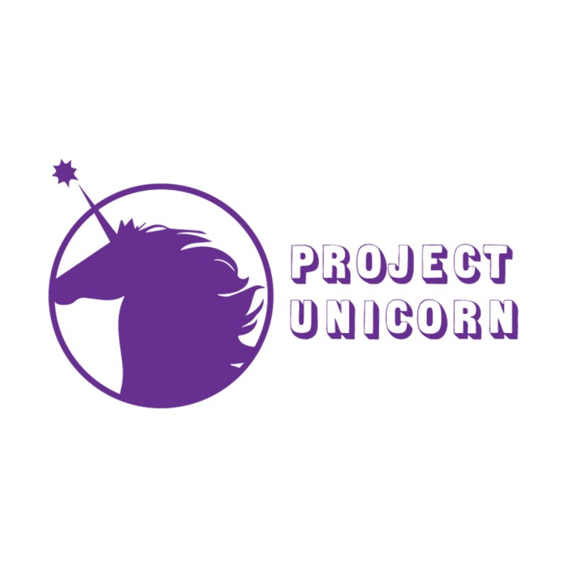Project Unicorn Logo with text Kids T-Shirt by bornjustright's Artist Shop