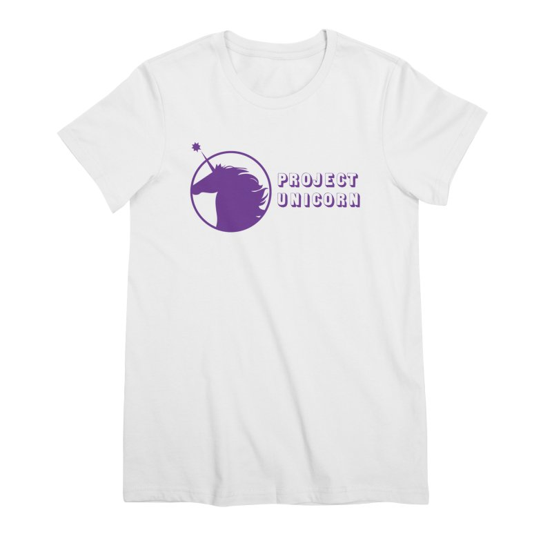 Project Unicorn Logo with text Women's Premium T-Shirt by bornjustright's Artist Shop