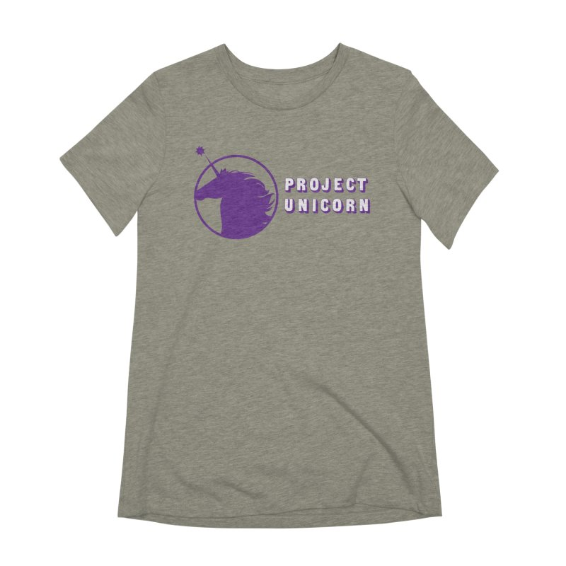 Project Unicorn Logo with text Women's Extra Soft T-Shirt by bornjustright's Artist Shop