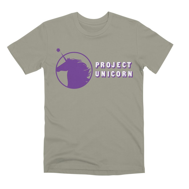 Project Unicorn Logo with text Men's Premium T-Shirt by bornjustright's Artist Shop